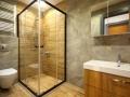 Kleines Badezimmer mit Duschtrennwand